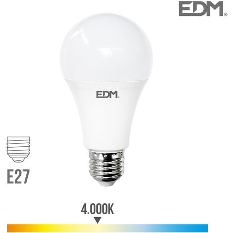 Bombilla standard led E27 24W 2700 lm 4000k EDM 98721