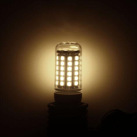 Bombilla transparente cubierta del LED luz del maiz del 69 blanco, blanco calido 5050 SMD 6.5W 230V calienta la lampara E27
