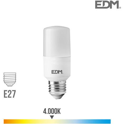 Bombilla tubular LED E27 10w 1100 lm 4000k luz dia EDM 98840