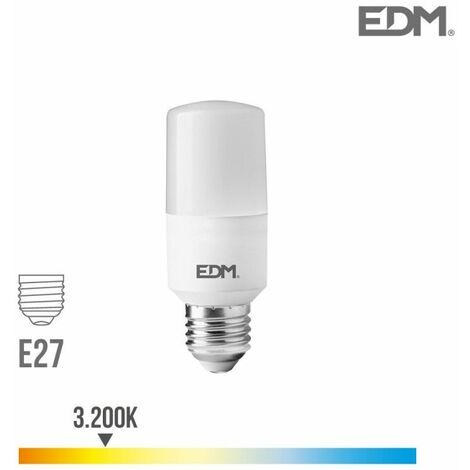 Bombilla tubular LED E27 10w 1100 lm 3200k luz calida EDM 98839