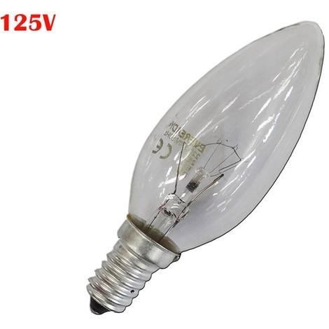 Bombilla Vela Clara 40W E14 125V (Solo Uso Industrial) - NEOFERR