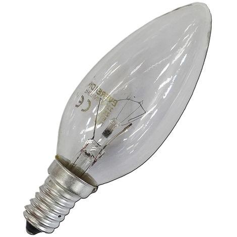 Bombilla vela clara 40w e14 (solo uso industrial)