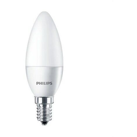 Bombilla vela CorePro LED 5W E14 4000K mate PHILIPS 54356600