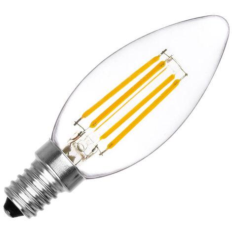 Bombilla Vela filamento Led E14 COB 4W