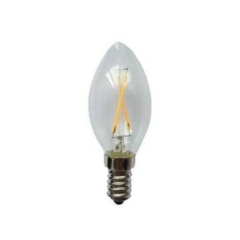 Bombilla vela LED (2W). Luz cálida (2000ºK).