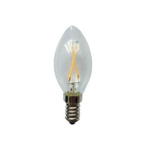 Bombilla vela LED (4W). Luz cálida (2000ºK).