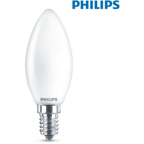 BOMBILLA VELA LED E14 4,3W 470Lm 6.500K LUZ FRIA PHILIPS - NEOFERR..