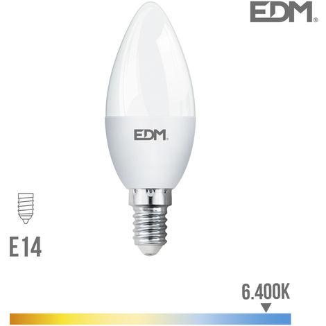Bombilla vela led e14 5w 400 lm 6400k luz fria edm