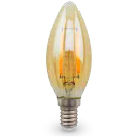 Bombilla vela LED Gold E14 4W 420lm