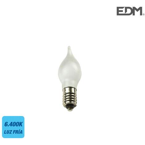 "BOMBILLA VELA LED ""MARIPOSA"" E10 0.1W 160 Lm 6400K LUZ FRIA EDM"