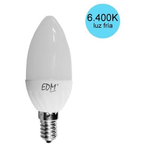 Bombilla vela led SMD marca EDM E14 5W -Disponible en varias versiones