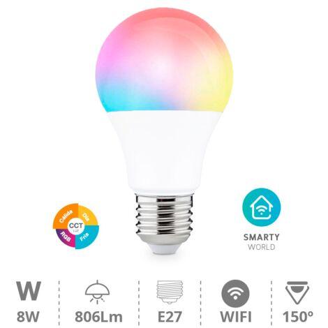 Bombilla wifi RGB y regulable E27 - Blanco