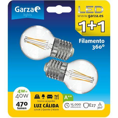 Bombillas esféricas LED E27 4W 470lm