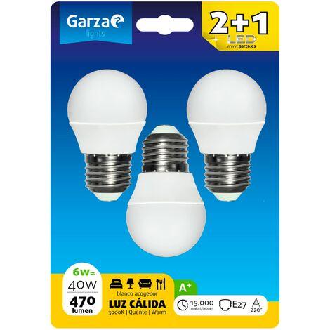 Bombillas esféricas LED E27 5W 400lm