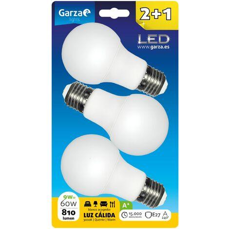 Bombillas estándar LED E27 9W 810lm