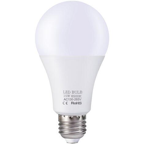 Bombillas LED 15 W, E27 bombillas de luz, luz blanca, 130V-265V