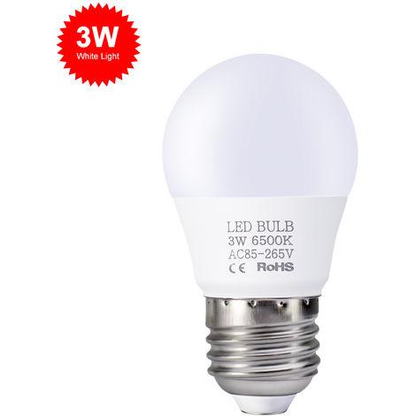 Bombillas LED de 3W, E27 bombillas de luz, luz blanca, 85V-265V