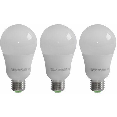 Bombillas LED de 3x 11 vatios E27 lámparas incandescentes 2800 Kelvin iluminación 810 lúmenes luminarias EEK A +