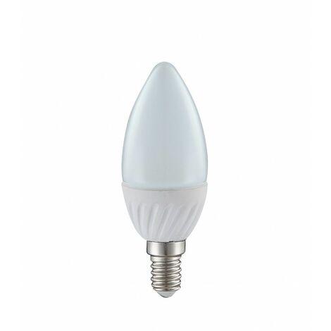 Bombillas LED E14 Vela blanca cálida Lámpara 4 Vatios 400 lúmenes luz Globo 10640