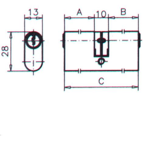 Bombillo Doble Ovalado Niquel - CVL - 5963/2222/4 - 55 MM