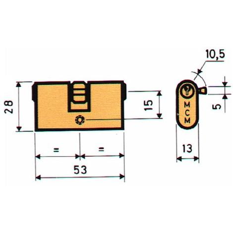 Bombillo Oval Metalicas Laton - MCM - OV:26-26 - 26,5X26,5