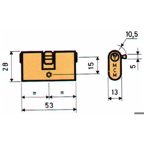 Bombillo Oval Metalicas Niquel - MCM - OVN:26-26 - 26,5X26,5