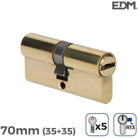 Bombin laton 70mm (35+35mm) con 5 llaves seguridad incluidas edm EDM 85189
