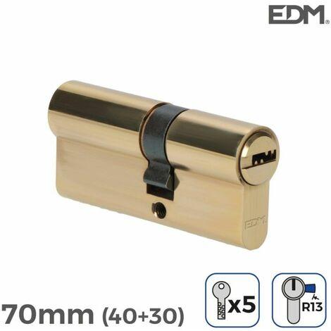 Bombin laton 70mm (40+30mm) con 5 llaves seguridad incluidas edm EDM 85188