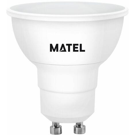 BOMB.LED DICROICA 120º REGUL.GU10 8W.FRI Matel
