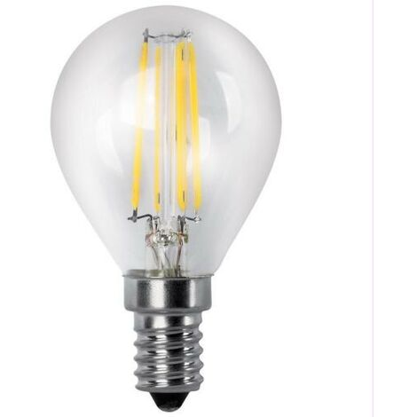 BOMB.LED FILAMENT.ESFER.CLARA E14 4W.FR Matel