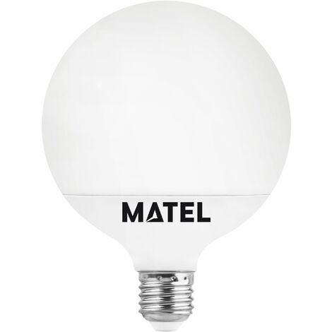 BOMB.LED GLOBO G80 E27 12W.FRIA Matel