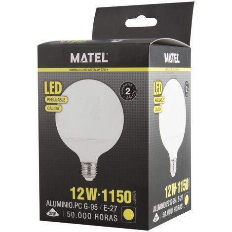 Bombilla LED globo G95 regulable E27 12w cálida 1150lm
