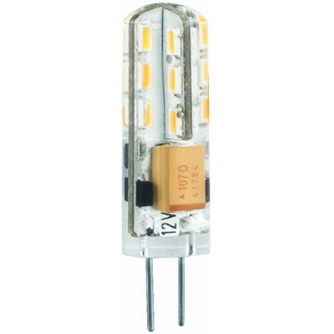 BOMB.LED SILICONA G4 2W. 12V. FRIA Matel