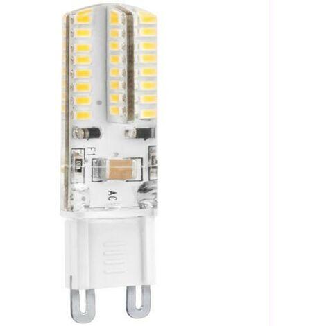 BOMB.LED SILICONA G9 3W. 230V. FRIA Matel