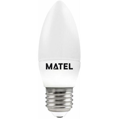 Bombilla LED vela E27 6w fría 600lm