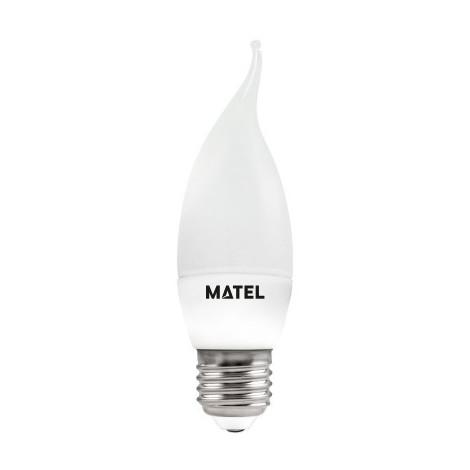 BOMB.LED VELA FLAMA E27 6W.FRIA Matel