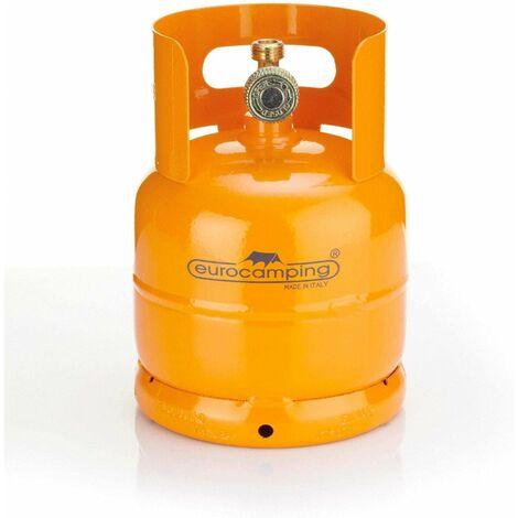 BOMBOLA GAS RICARICABILE PER CAMPER CAMPEGGIO DA 1KG EUROCAMPING 2,5L FORNELLO