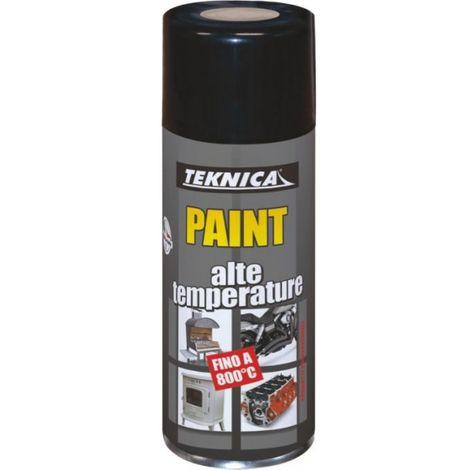 Bomboletta vernice Spray ROSSO Alta temperatura - 400ml - TEKNICA 17-0904