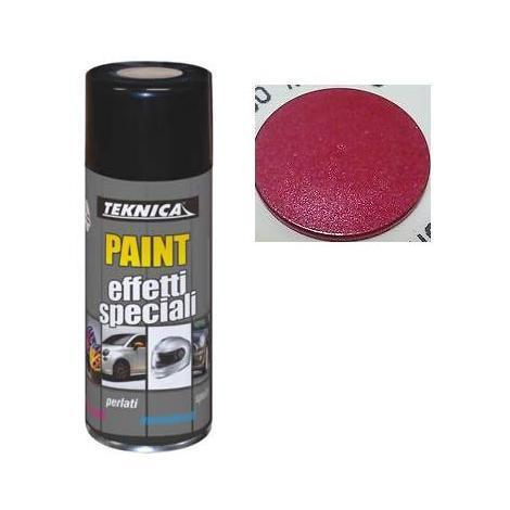 Bomboletta vernice Spray ROSSO METALLIZZATO - 400ml - TEKNICA 17-0504