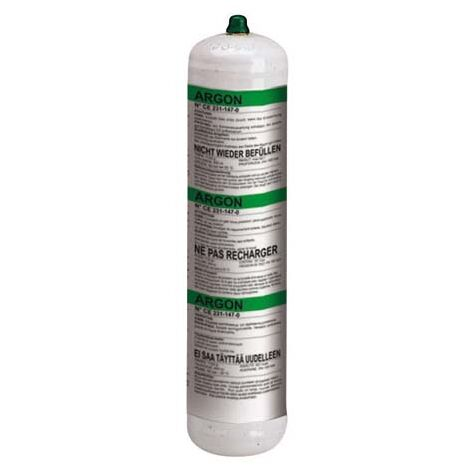 Bombona gas argón, 1 l, no recuperable TELWIN