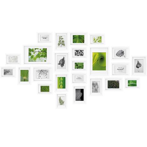 bomoe Juego de Marcos de Fotos múltiples para la Pared Nature Collage - 24 Piezas - con paspartú - 10x 10,5x15cm / 8X 13x18cm / 4X 15x20cm / 2X 20x30cm