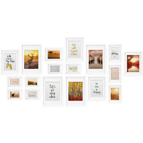 bomoe Juego de Marcos de Fotos múltiples para la Pared Passion - 18 Piezas