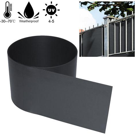 BOMT Paravent Brise 10 pcs Vue Visuelle Protectiont en PVC Bande brise-vue Taille par pièce Hauteur 19 cm x largeur 252 cm pour Clôture de Jardin