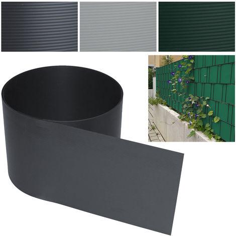 BOMT Paravent Brise 40 pcs Vue Visuelle Protectiont en PVC Bande brise-vue Taille par pièce Hauteur 19 cm x largeur 252 cm pour Cloture de Jardin