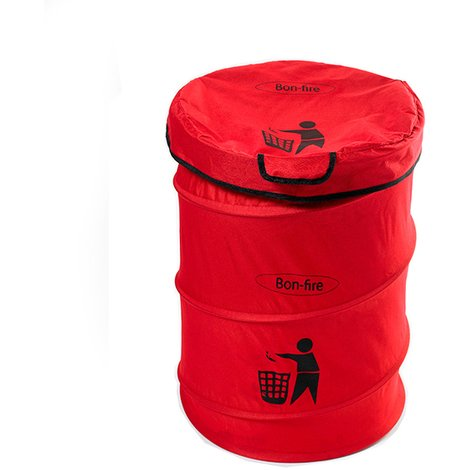 Bon-fire Portable Folding Dustbin with Pole and Bag