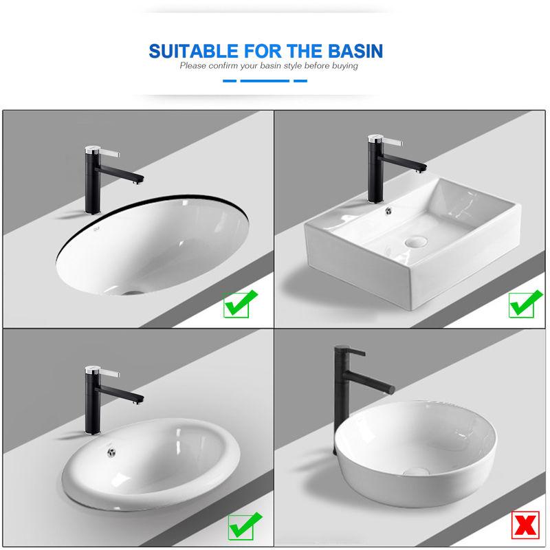 BONADE Grifo para lavabo Grifo para ba/ño Grifo blanco Mezclador monomando Grifo para lavabo Grifo monomando para ba/ño