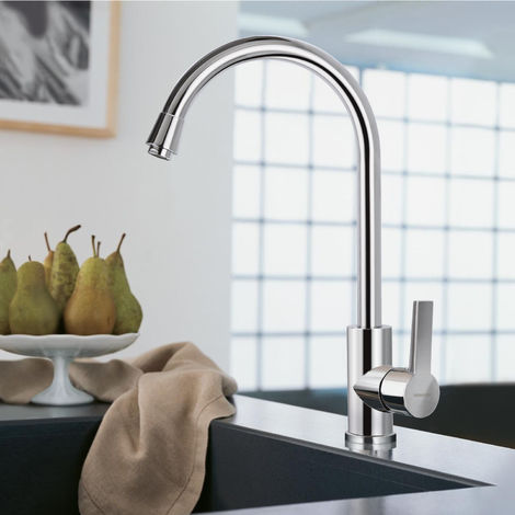 BONADE 360 ° Single Lever Waterfall Mixer Tap High Pressure Mixer Tap Kitchen Sink