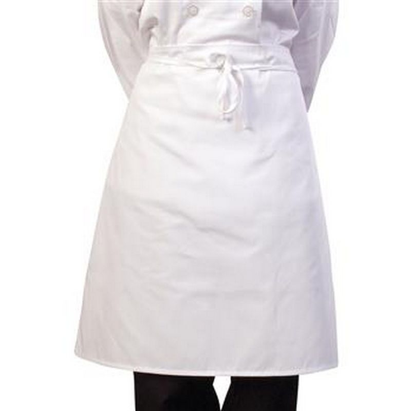 Image of BonChef 24 Inch Waist Apron (One Size) (White)