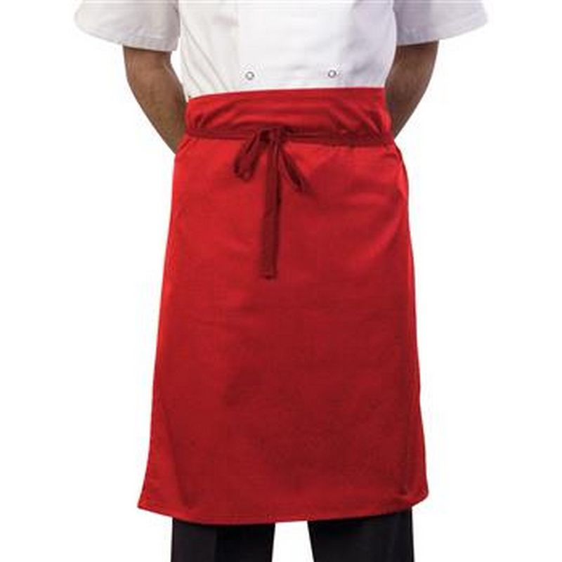 Image of 24 Inch Waist Apron (One Size) (Red) - Bonchef