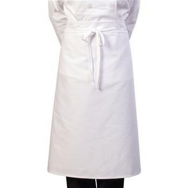 Image of 30 Inch Chef Apron (One Size) (White) - Bonchef